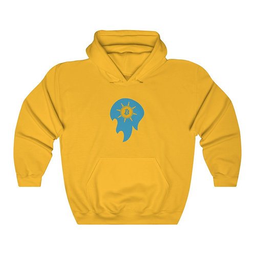 Spirit Ball Golden-Yellow Bitcoin Prospect Flag Hoodie