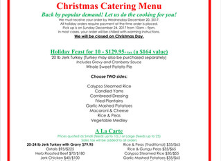 Holiday Catering!
