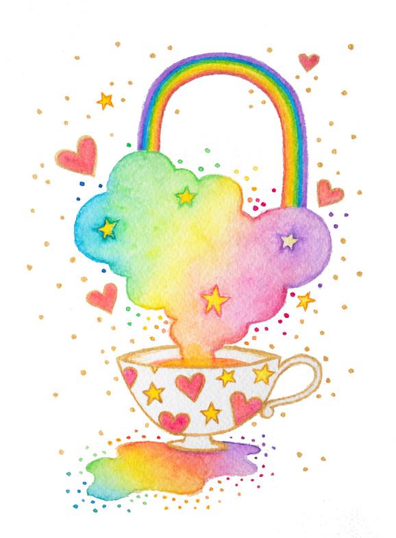 Rainbow Teacup