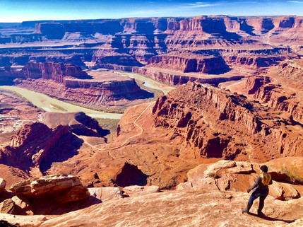 Stephanie Hunter at Horseshoe Bend Moab Utah