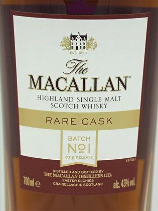 Macallan Rare Cask 2018 Batch No1,700 ml., 43 % Vol./Alk.