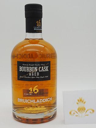 Bruichladdich 16 Years, 100 % Bourbon matured, 700 ml., 46 % Vol./Alk.