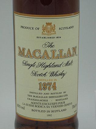 Macallan 1974/1992, 18 Jahre, 43 % Vol., 75 cl.