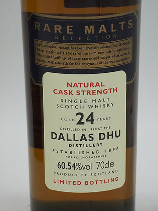 Dallas Dhu, 24 Jahre (Distiled 1970), 60.54 % Vol., 70 cl., Rare Malts Selection