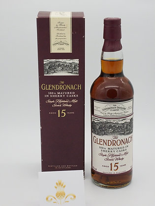 GlenDronach 15 Jahre, 40 % Vol., 70 cl. ältere Abfüllung