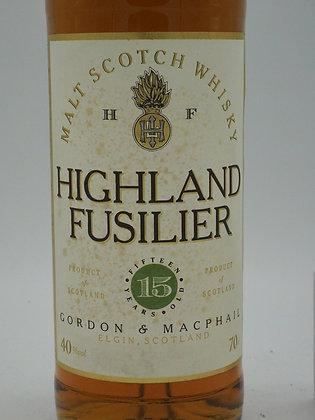 Highland Fusilier, 15 Jahre, 40 % Vol., 70 cl