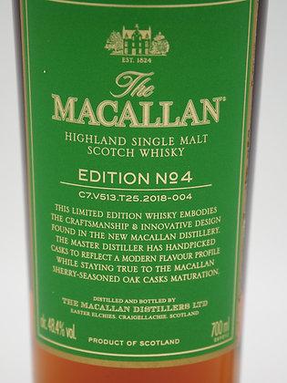 Macallan Edition No. 4, 700 ml, 48.4 % Alc./Vol.