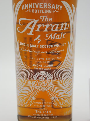 """Arran Anniversary Bottling """"The 15th"""" Limited Edition 1999/2010"""