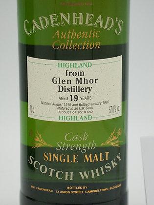Glen Mhor, 19 Jahre, 1976/1996, 57.8 % Vol., 70 cl. Cadenhead's AC