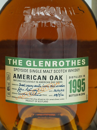 The Glenrothes American Oak 1995/2016, 45 % Vol., 70 cl.