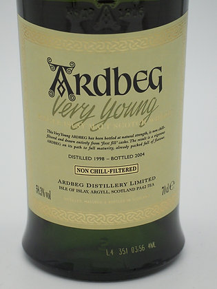 Ardbeg Very Young, Committee 1998/2004, 58.3 % Vol., 70 cl