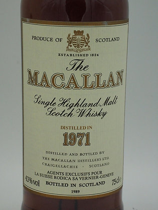 Macallan 1971 18 Years Sherry Wood, 43 % Vol., 75 cl