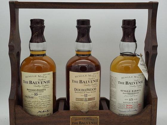Balvenie Trilogie mit Founder's Reserve, Double Wood 12 und Single Barrel 15