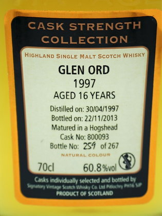 Glen Ord 1997, 16 Years, Signatory Cask Strength Collection
