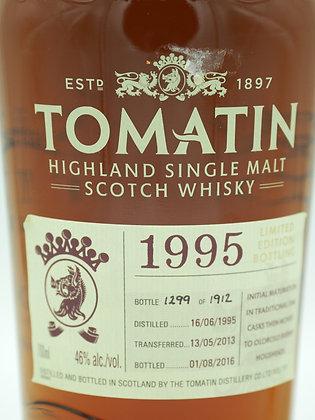 Tomatin 1995 OA Highland Single Malt Scotch Whisky, 70 cl, 46 % Vol.