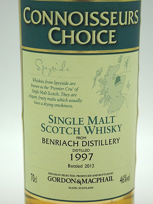 Benriach 15 Jahre (1997 distilled and  2012 bottled), 70 cl, 46 % Vol.