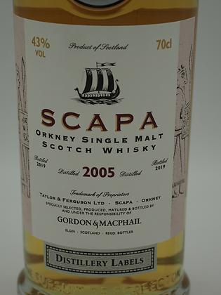 Scapa 2005/2019 Gordon & MacPhail, Distillery Labels