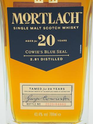 Mortlach Cowie's Blue Seal 20 Years, 43.4 % Vol. /Alc., 700 ml
