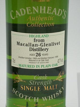 Macallan-Glenlivet, 26 Jahre 1969/1996, 43.7 % Vol., 70 cl, Cadenhead's AC