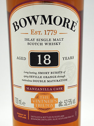 Bowmore 18 Jahre, The Vintners's Trilogy 1 of 3 (Manzanilla Cask)
