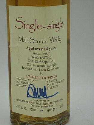 Michel Couvreur: Single-single Malt Scotch Whisky 14 Years, 1981