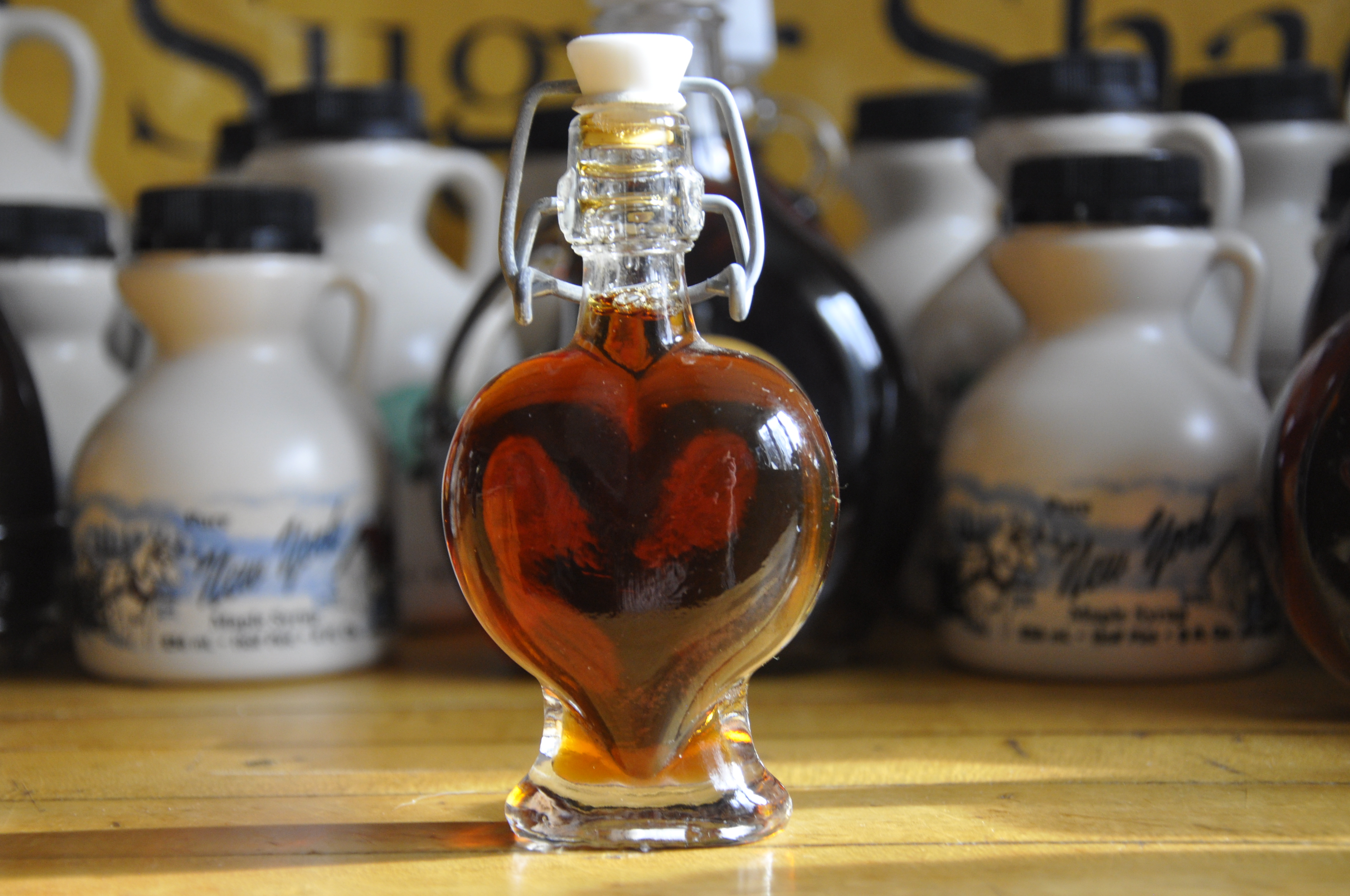 Glass Specialty Bottle - Heart