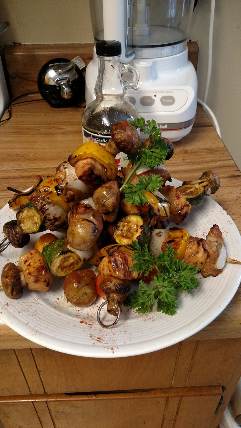Pork & Chicken Kabobs