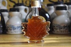 Glass Specialty Bottle - Maple Leaf