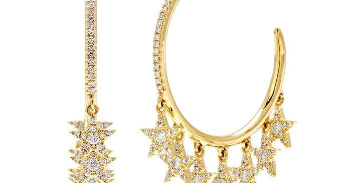 AROS HOOP MULTI STARS GOLD
