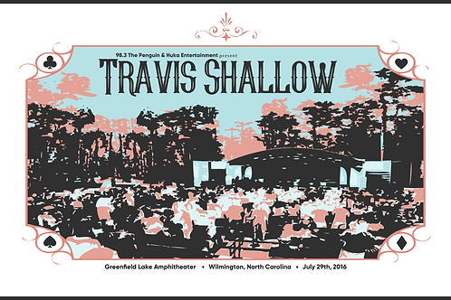 Travis Shallow Show Poster Greenfield Lake Amphitheater Gregg Allman