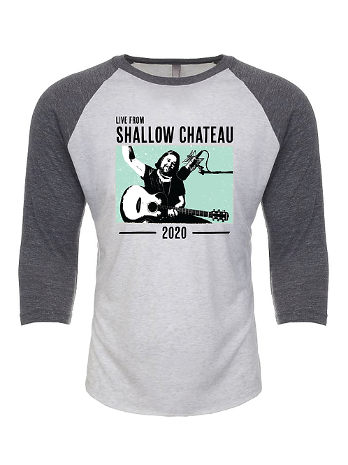 """""""Live From Shallow Chateau"""" 3/4 sleeve Shirt - (Unisex)"""