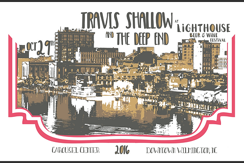Travis Shallow Show Poster Cape Fear Beer & Wine Festival