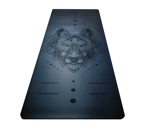 ECO WOLF YOGA MAT - SATIN BLACK