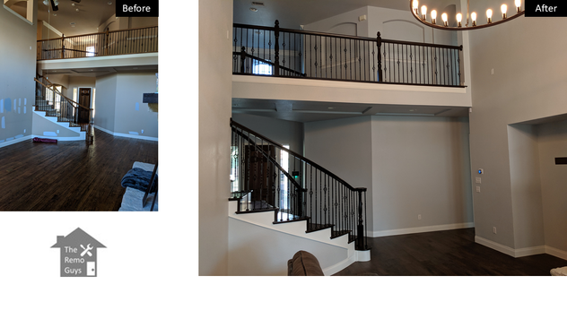 Paint and Stairs remodel - The Remo Guys