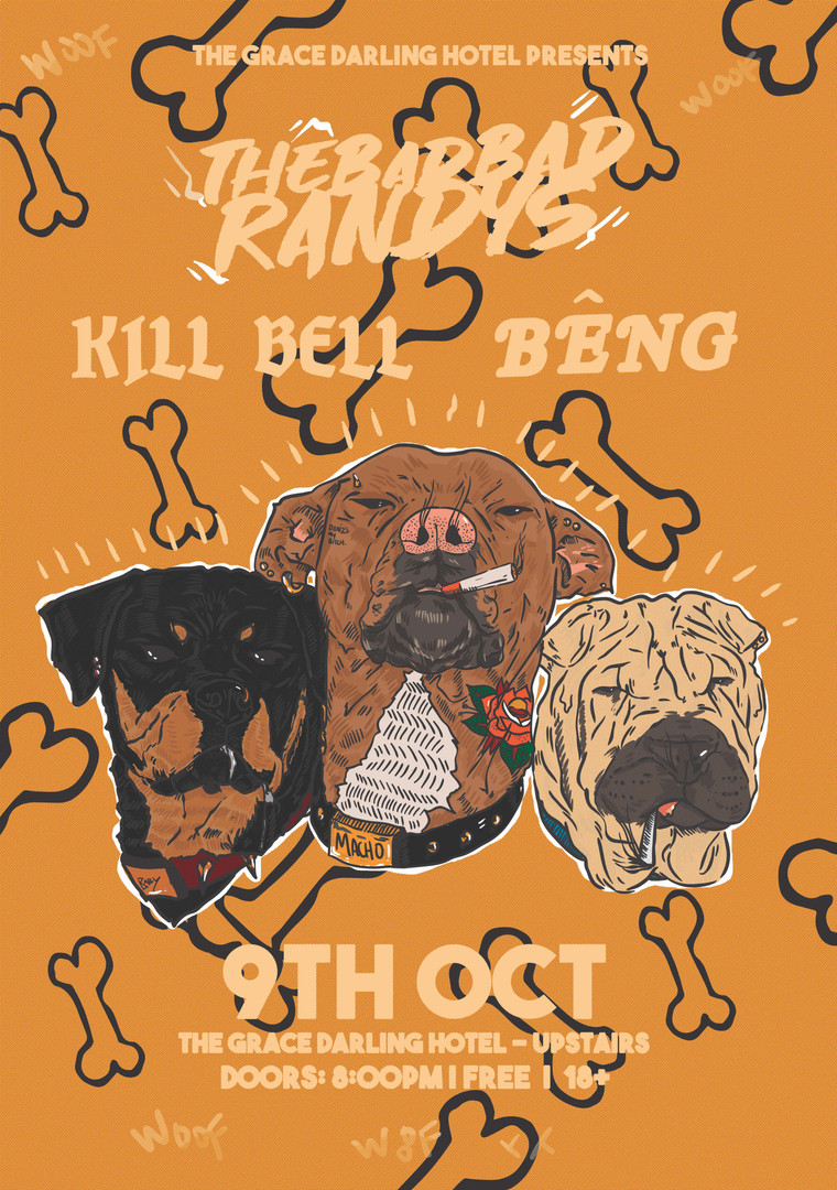 The Bad Bad Randys @ The Grace Darling Hotel, 2019