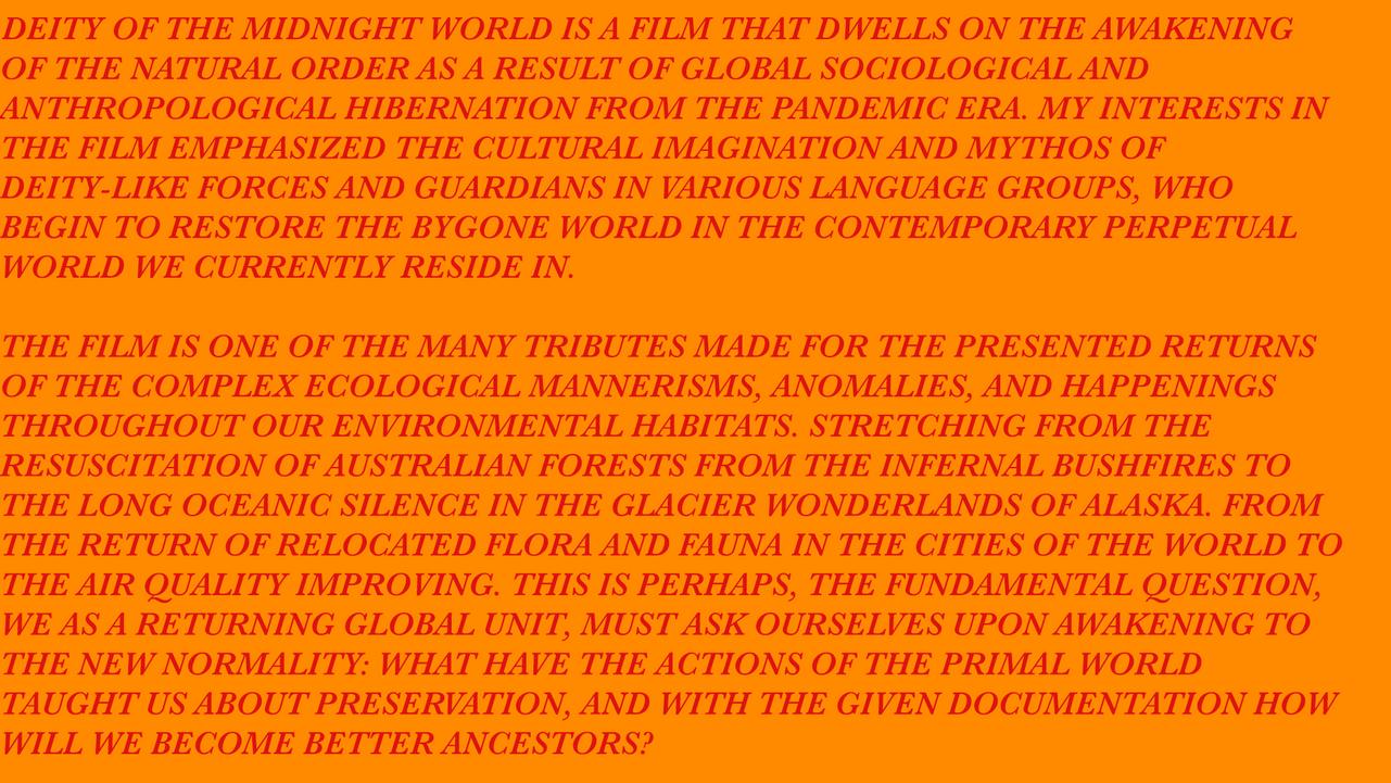 Deity of the Midnight World, 2020