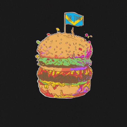 Sir John's Bar Mural Concept: Burger