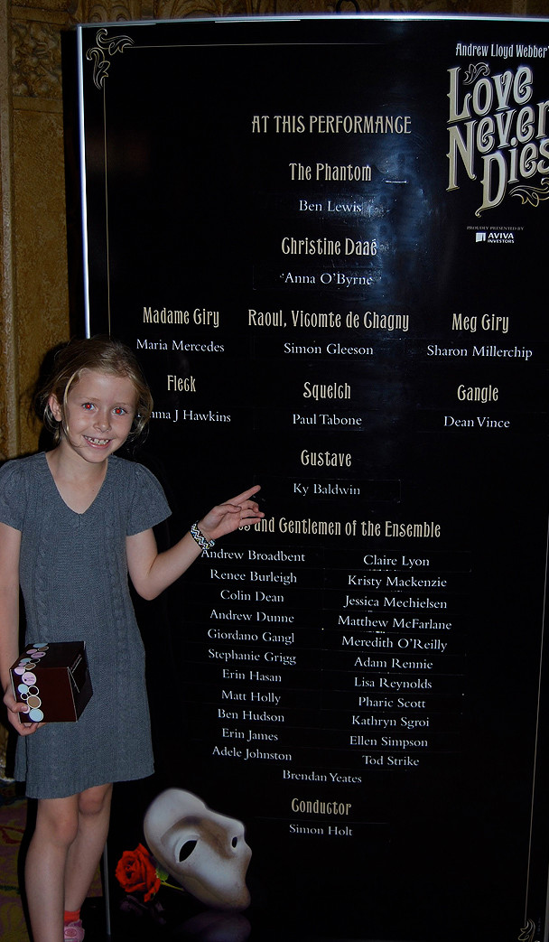 Amy and the cast board for my very first show in Melbourne Australia