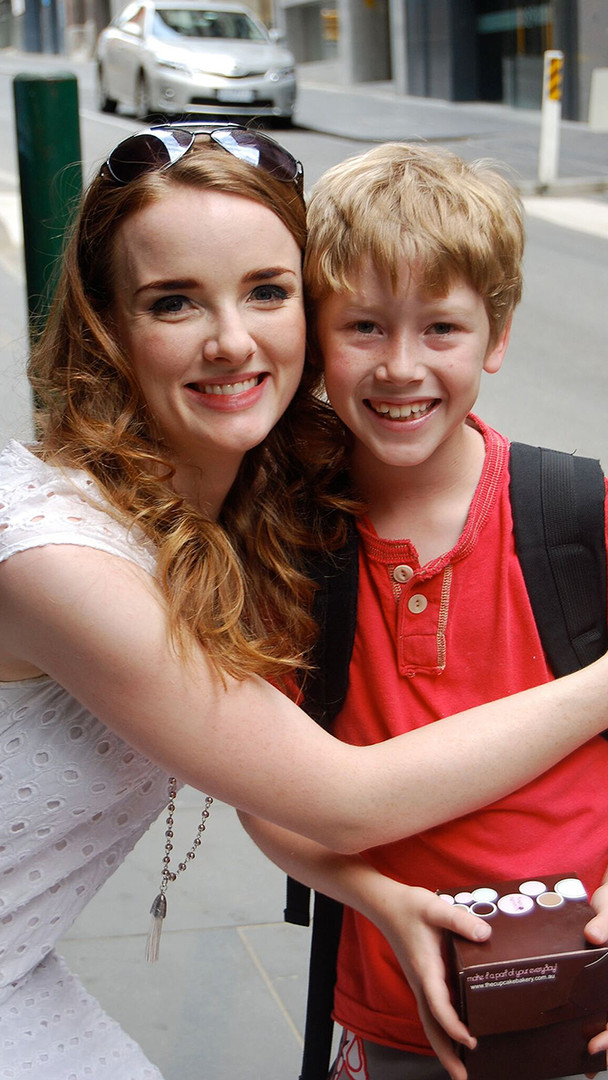 Outside stage door with Christine - Anna O'Byrne