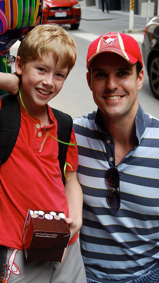 Outside stage door with the Phantom - Ben Lewis