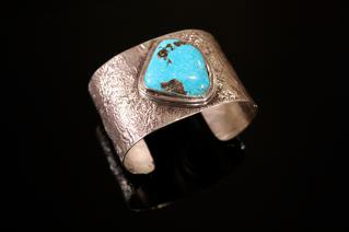 Turquoise Reticulated Cuff