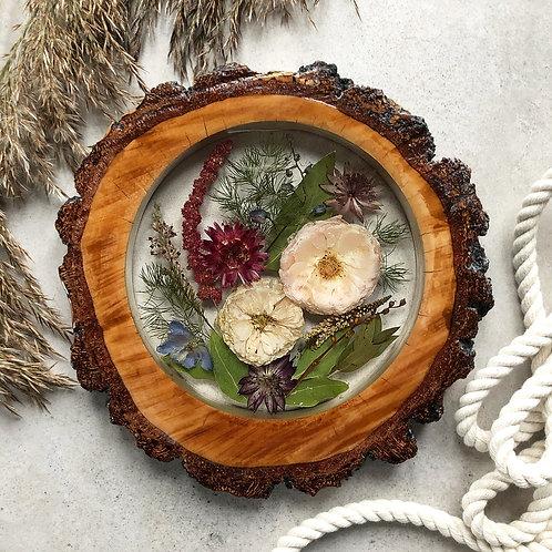 Plaster drewna - wisząca kompozycja