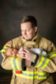 Firefighter newborn photo