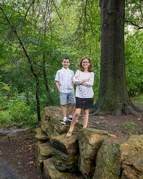 Outdoor family photos Kansas City