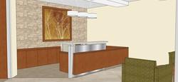 Scheu Reception Desk Rendering