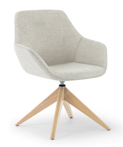 Melina Guest Chair wood base
