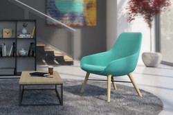 Lily lounge  Chair w wood legs