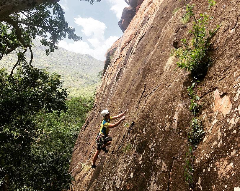 Climbing on Animal Farm Crag .JPG