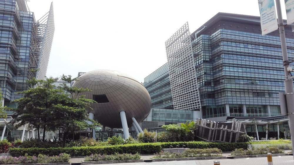 The The Charles K. Kao Auditorium in the Hong Kong Science Park.