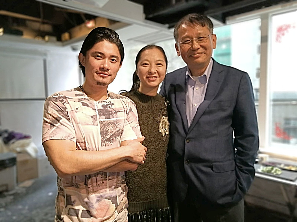 The 3musketeers (left to right): Chef Justin Chan, Event Coordinator Barbara Chan, C.E.O. of Geb Impact Technology James Chan